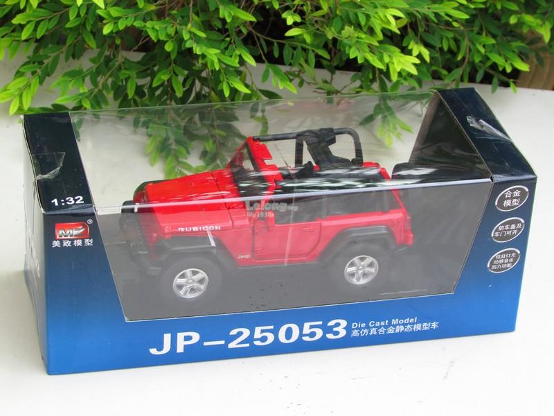 MZ 1/32 Jeep Wrangler Rubicon Convertible Car With Light & Sound (Red)
