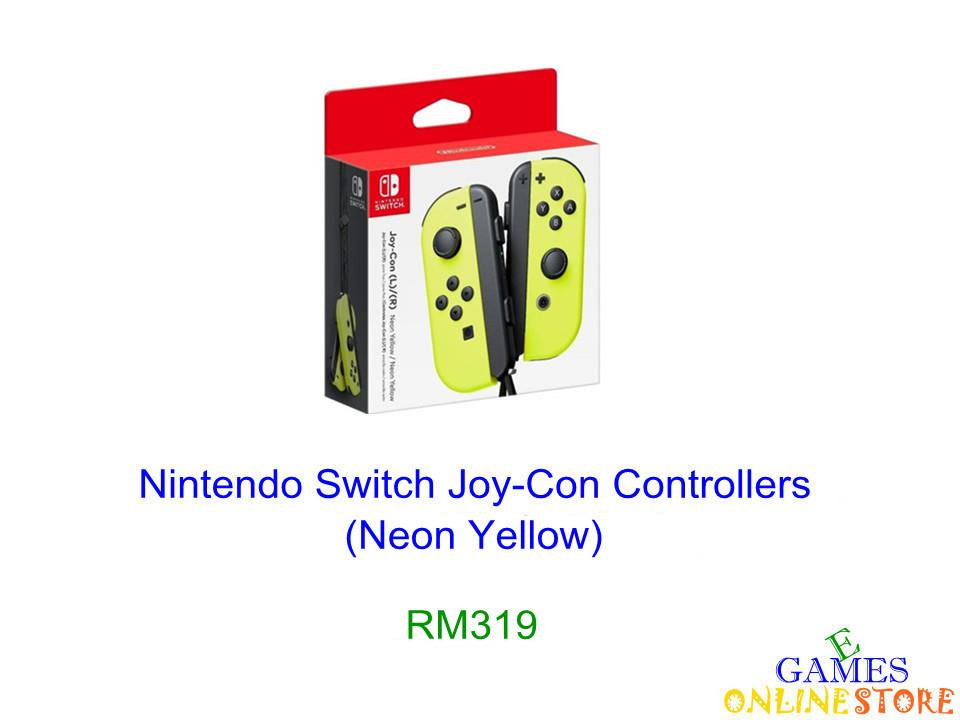 N.Switch Joy-Con Controllers (Yellow) ★Brand New & Sealed★