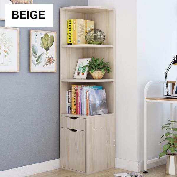 N25 Corner Book Shelf Cabinet Decorative
