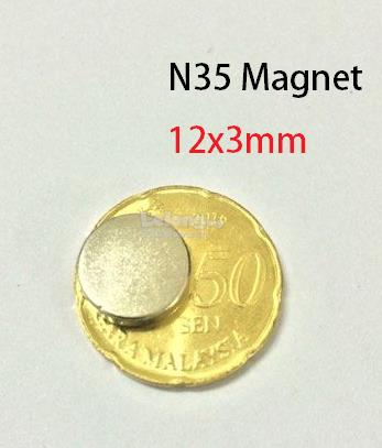 N35 Neodymium strong magnet DIY 12x3mm (5pcs)