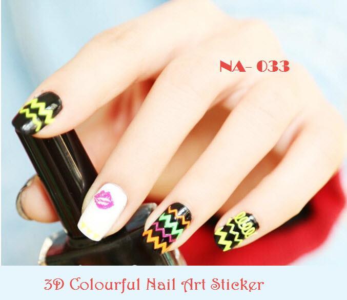 NA-0033 3D Colorful Nail Art Sticke (end 10/29/2018 4:15 AM)