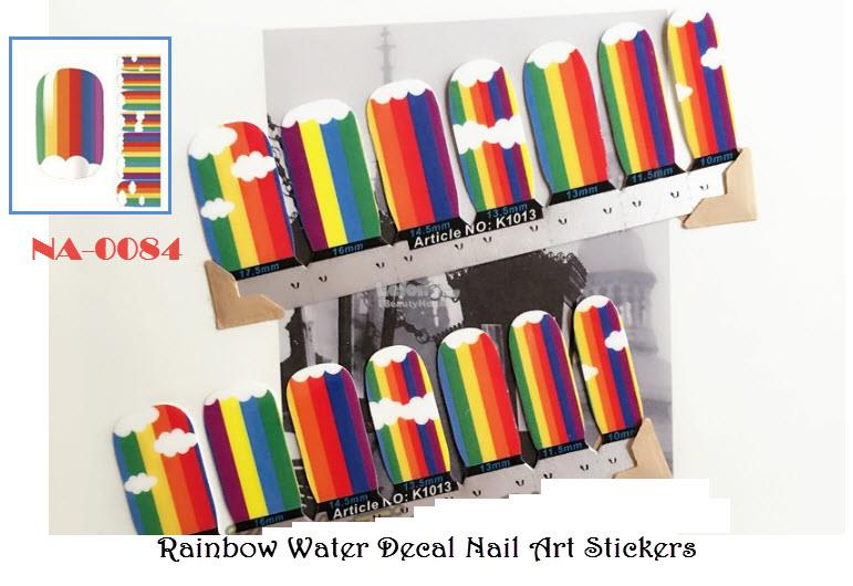 NA-0084 Rainbow Nail Art Stickers ( (end 3/15/2019 11:15 PM)