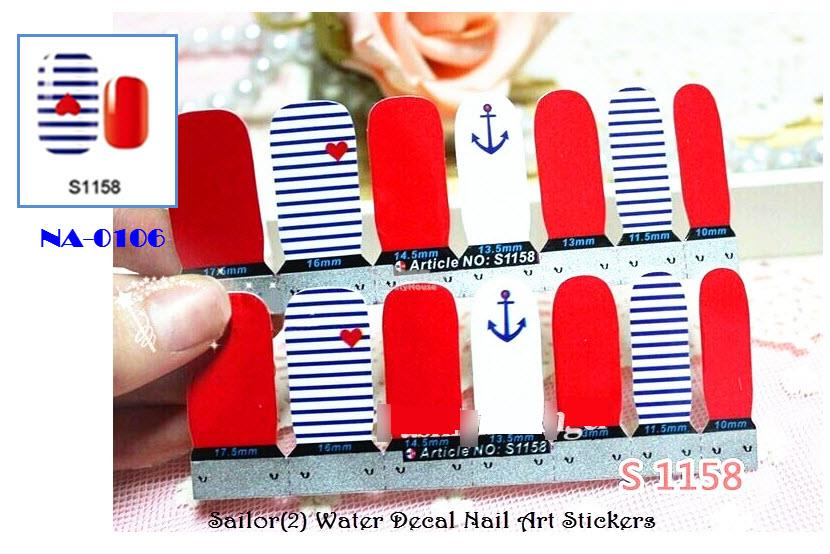 NA-0108 Sailor (2) Nail Art Stickers (end 1/14/2019 1:15 AM)