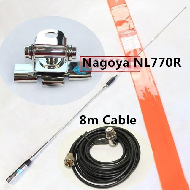 Nagoya NL770R Dual Band Mobile Antenna 8meter Cable For MPV Car