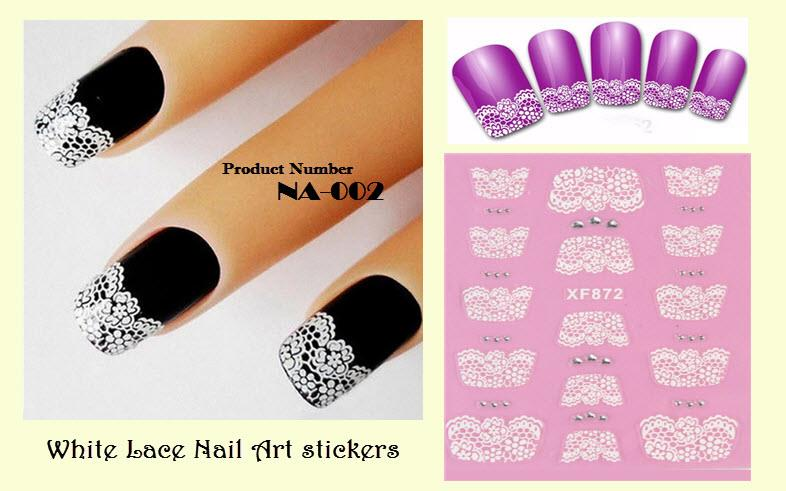 Nail Art Stickers - White Lace (DIY) (end 7/26/2019 6:15 AM)