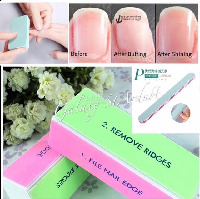 Nail Buffing High ShineManicure 4 Ways BufferEmery File Block