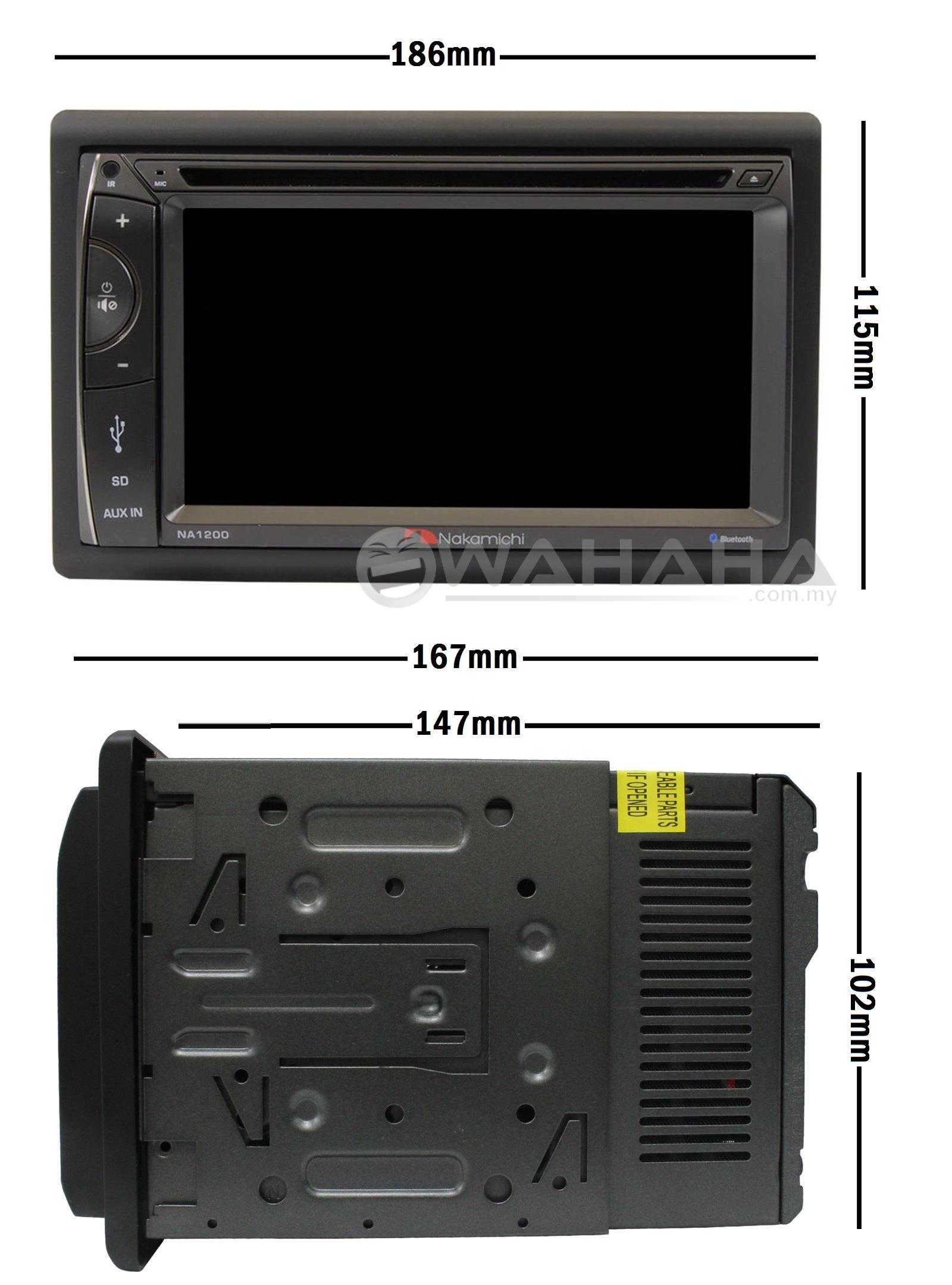 nakamichi na1200 6 2 hd screen 2 double din car dvd bluetooth player