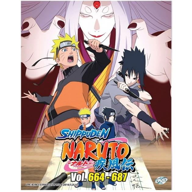 NARUTO SHIPPUDEN Box 23 Vol 664-687 Anime DVD