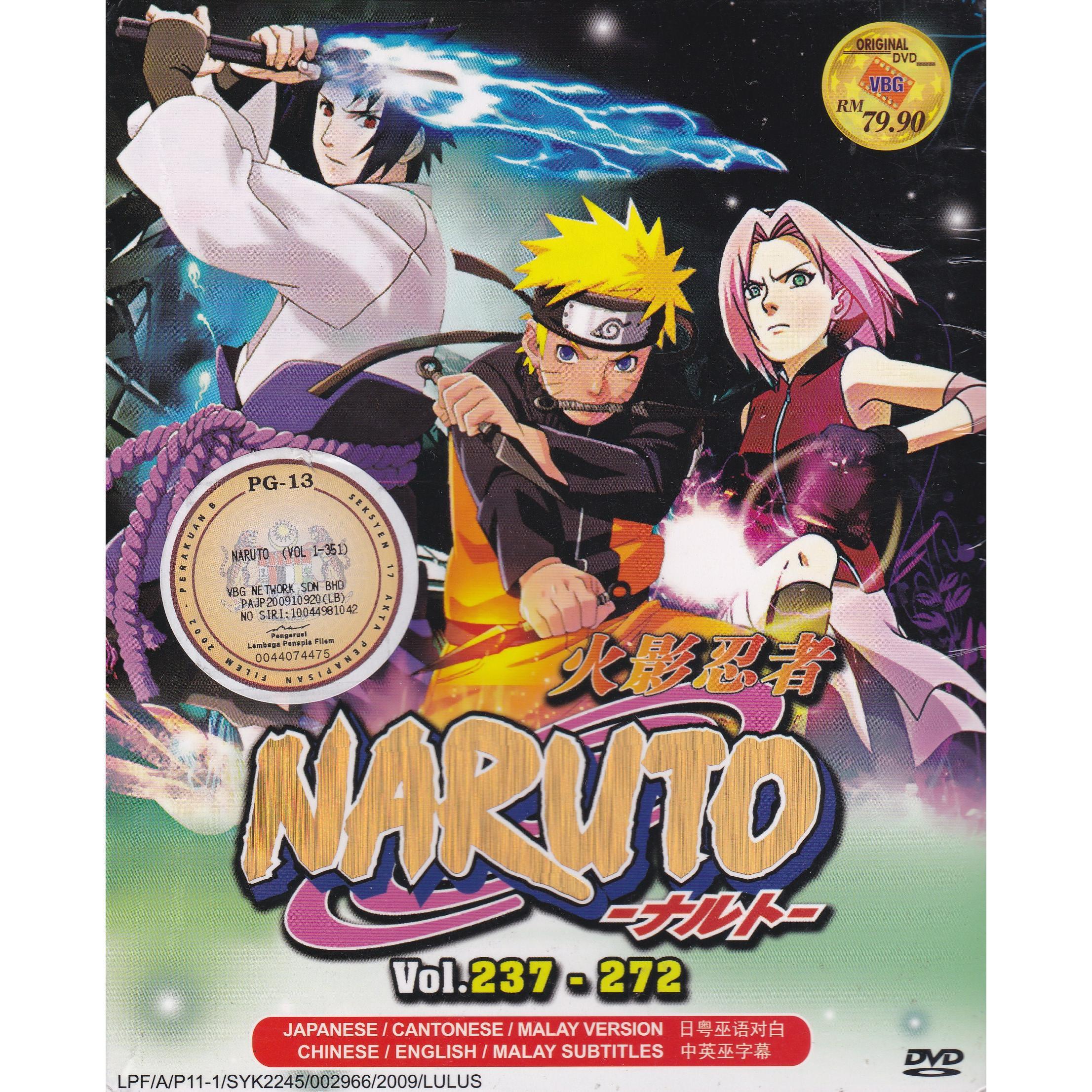 NARUTO SHIPPUDEN Vol 237-272 Box Set Anime DVD