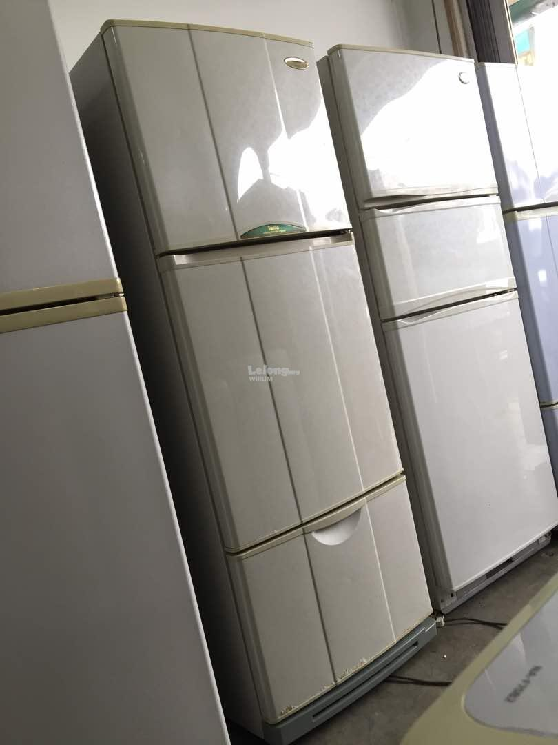 National 3 Doors Refrigerator Peti Sejuk Ais refurbish recondition