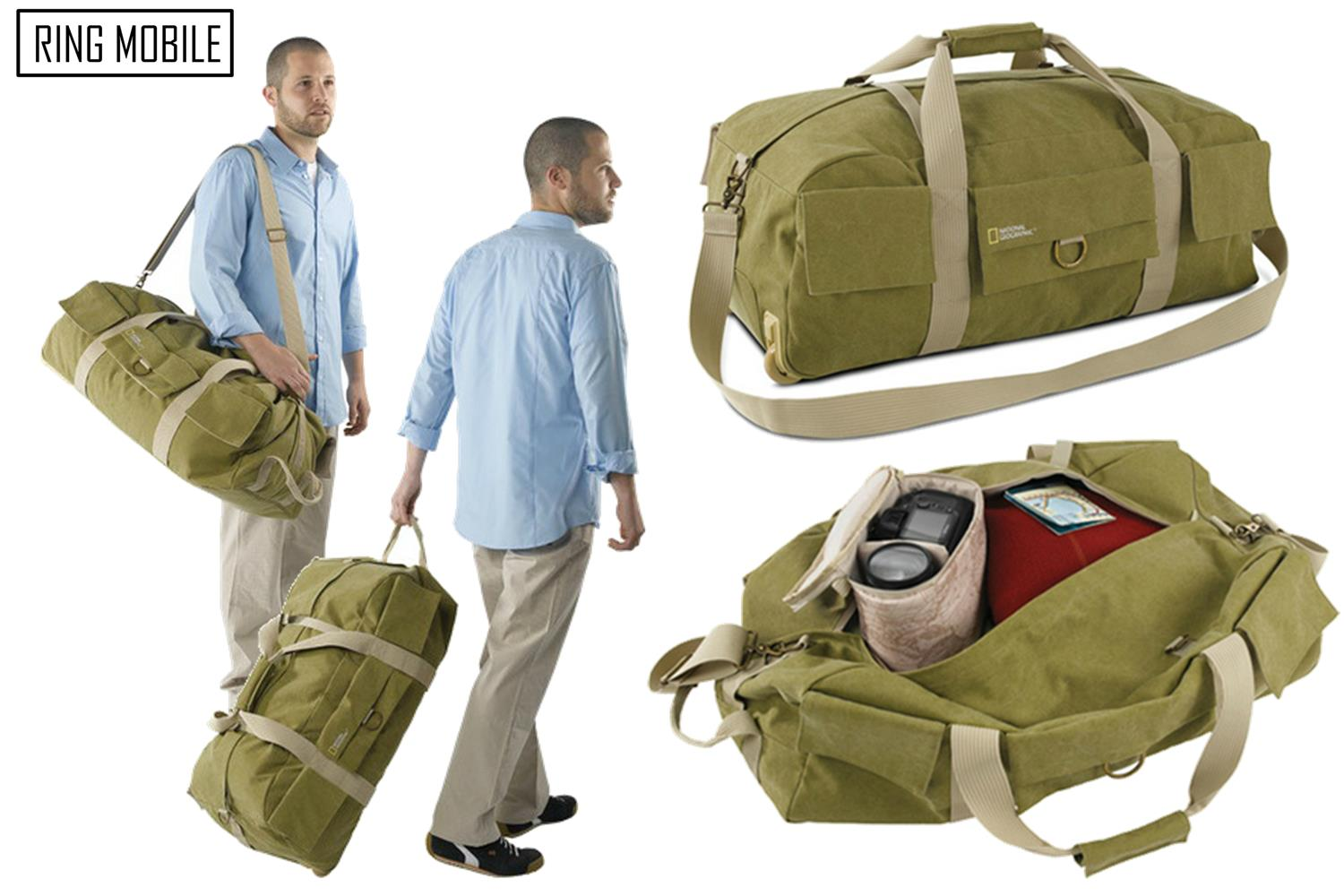 National Geographic Earth Explorer Rolling Duffel Bag Ng 6130