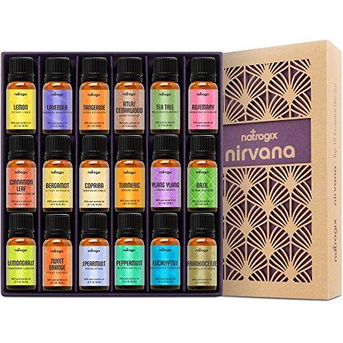 Natrogix Nirvana Essential Oils Top 18 Oil Set 100 Pure Therapeut