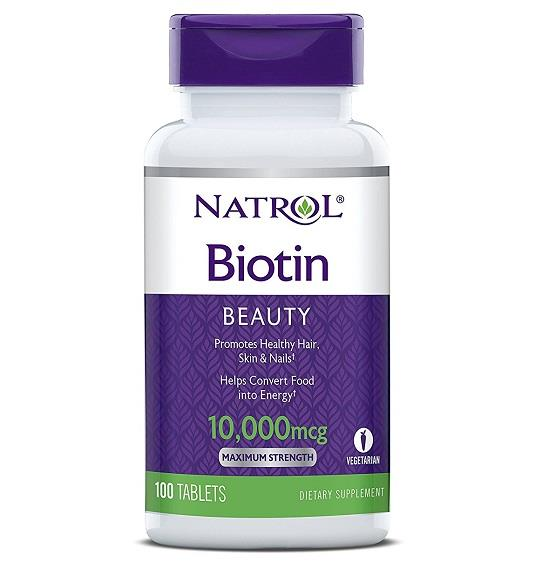 Natrol, Biotin, Maximum Strength, 10,000 mcg (100 Tablets)