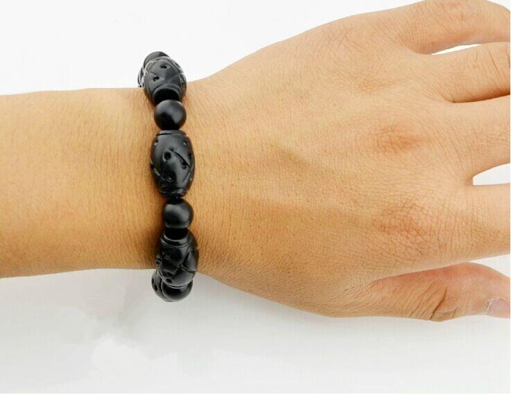 Natural Bianshi Bian Health Stone Bracelet (Stress Relief, Hair Loss)