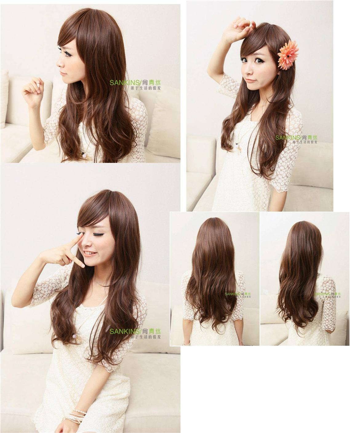 Natural Brown Wig*F3ready stock-rambut palsu