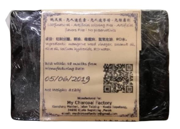 Natural Handmade Soap Charcoal with Mangrove Wood Vinegar