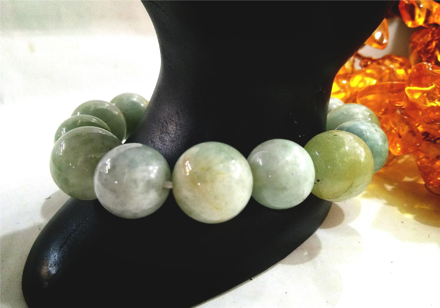 Natural Jade Stone Bracelet 12mm Mixed 10mm