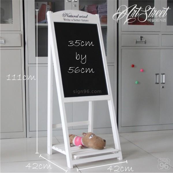 Natural Wind Foldable Blackboard Chalkboard Welcome Menu Stand