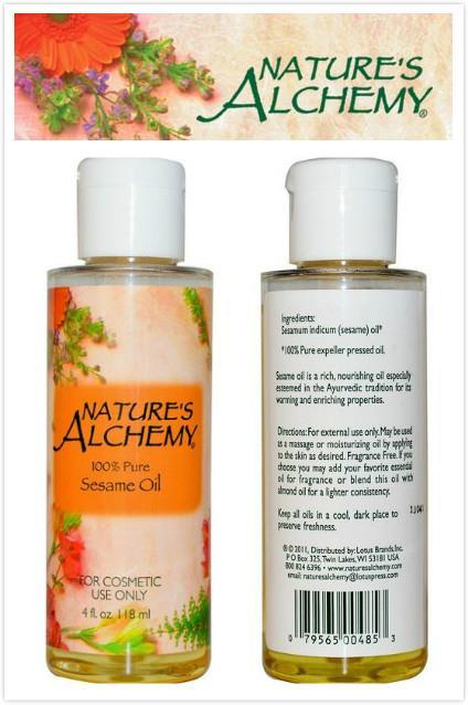 Nature Alchemy, 100% Sesame Oil, Cosmetic Use (118ml)