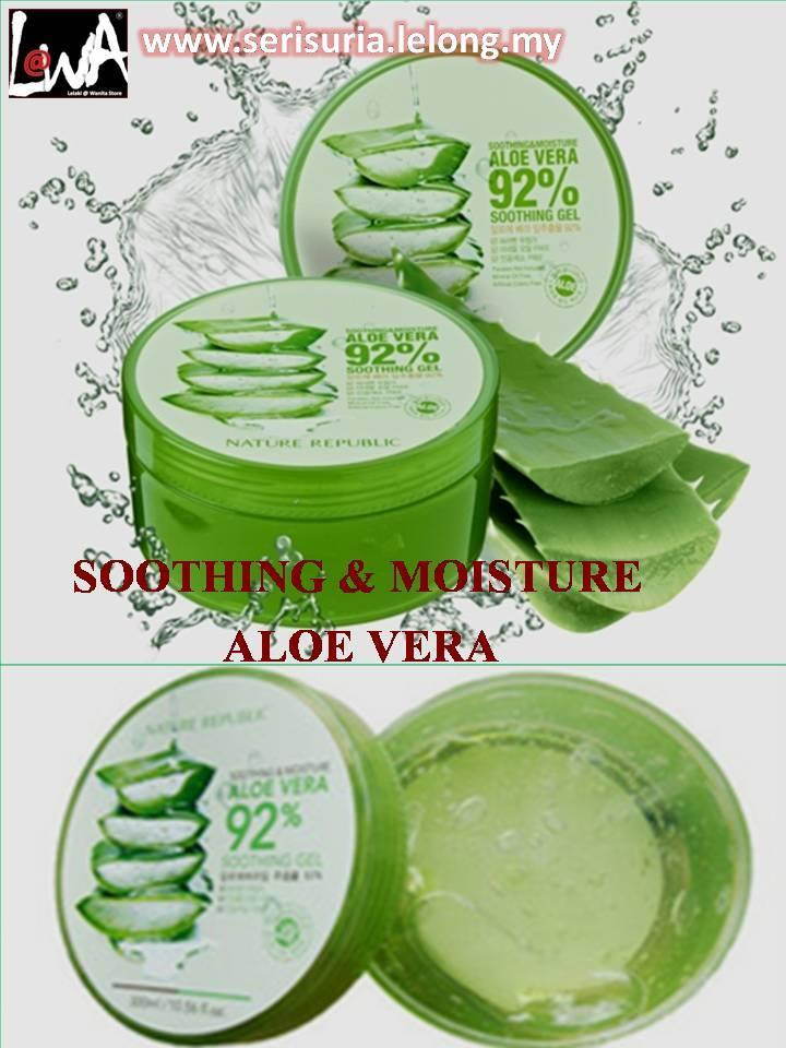 NATURE GEL 92% ALOE VERA SOOTHING AND MOISTURE