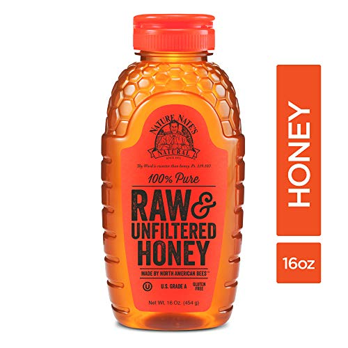 Nature Nate's 100% Pure Raw  & Unfiltered Honey; 16-oz. Squeeze Bottle; Cert