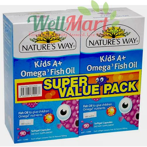 Nature 39 s way kids a omega 3 fish oil end 9 1 2017 5 15 pm for Fish oil for children