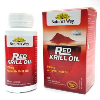 NATURE'S WAY RED KRILL OIL 500MG 90s (REDUCE TRIGLYCERIDE/CHOLESTEROL)