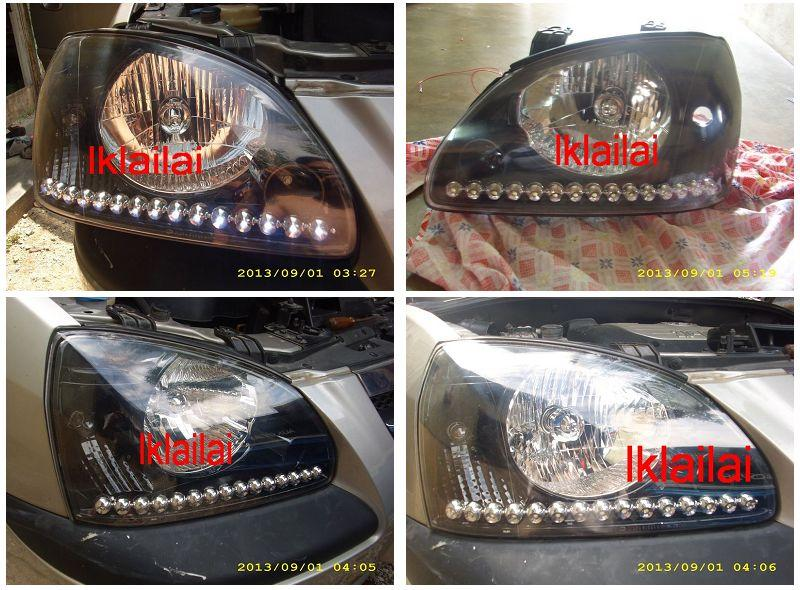 Naza Citra Crystal Head Lamp +Round R8 DRL [Chrome/Black Housing]