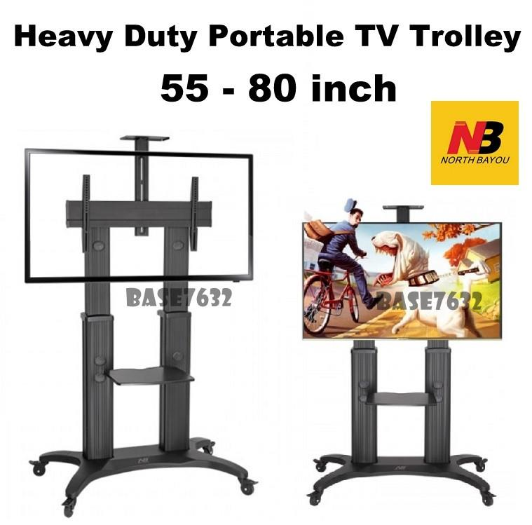 NB 55 to 80 Inch  AVF1800-70-1P TV Trolley Mount Bracket Stand Cart