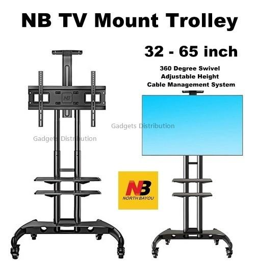 NB AVA1500-60-2P 32 to 65 Inch TV Trolley Stand Cart Mount 2573.1