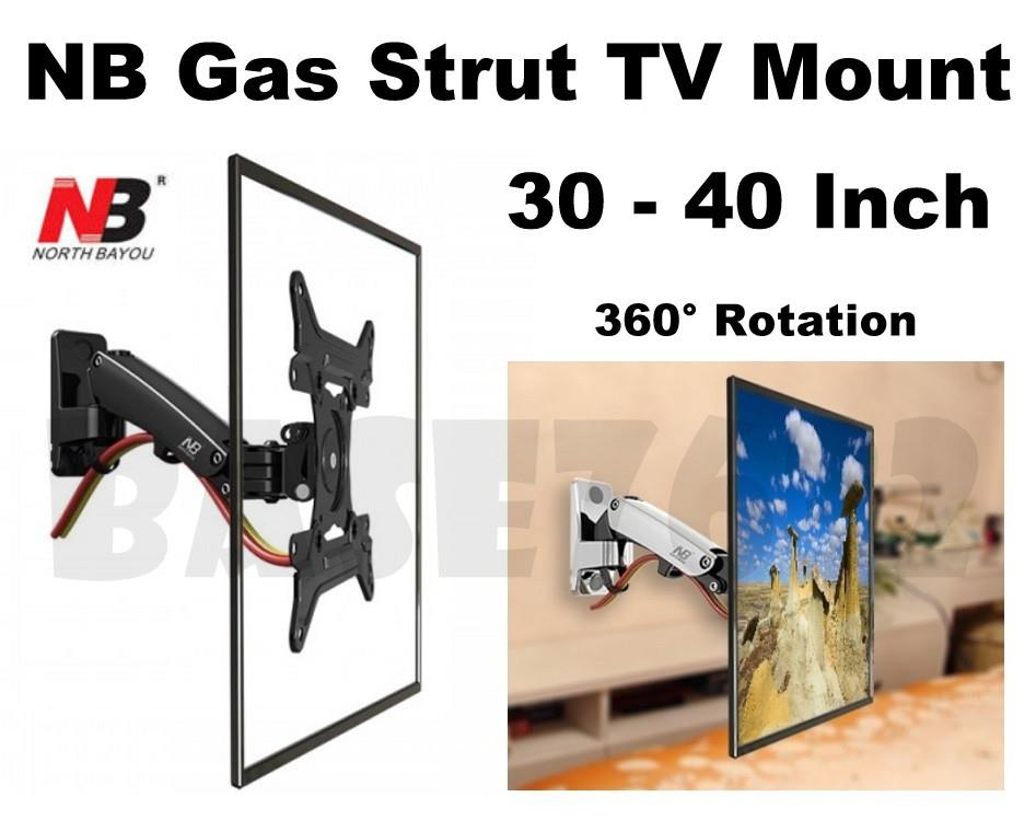 NB F200  30 to 40 Inch Gas Strut TV Wall Monitor Bracket Holder Mount