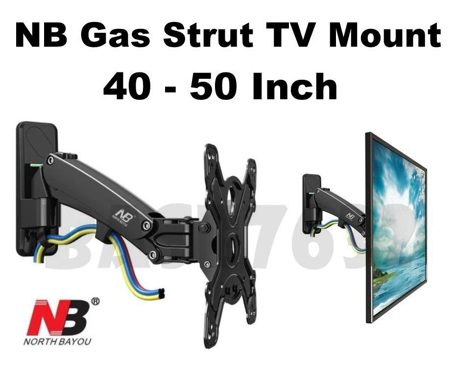 NB F350 40 to 50  Inch Gas Strut Spring TV Wall Bracket Holder Mount