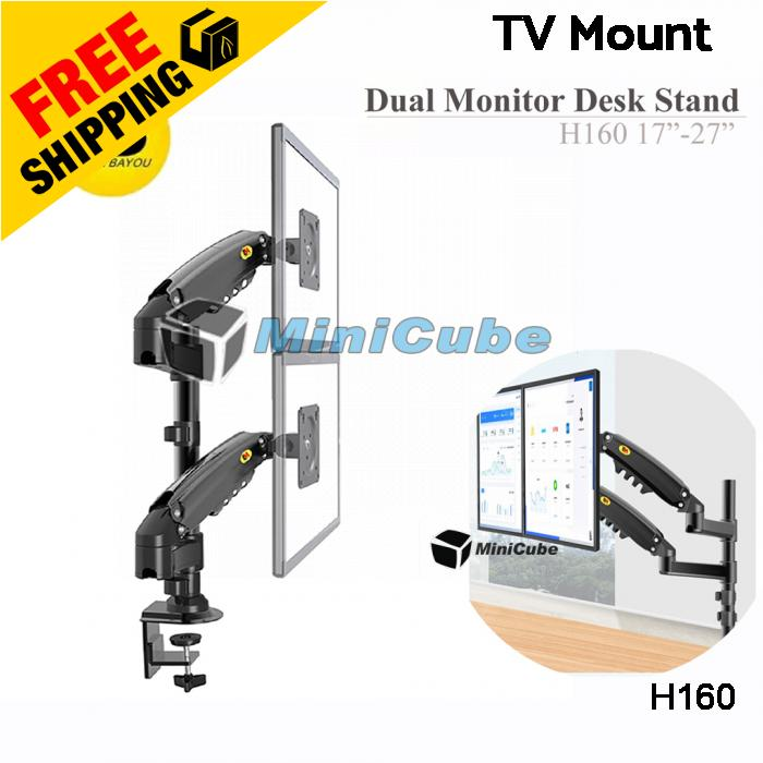 "NB H160 17  ""-27 "" TV Monitor Dual Arm Stand Bracket Mount"