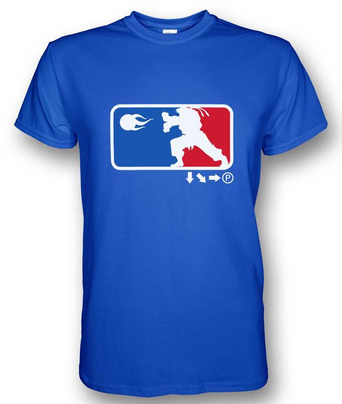 NBA Logo Style Hadouken T-shirt