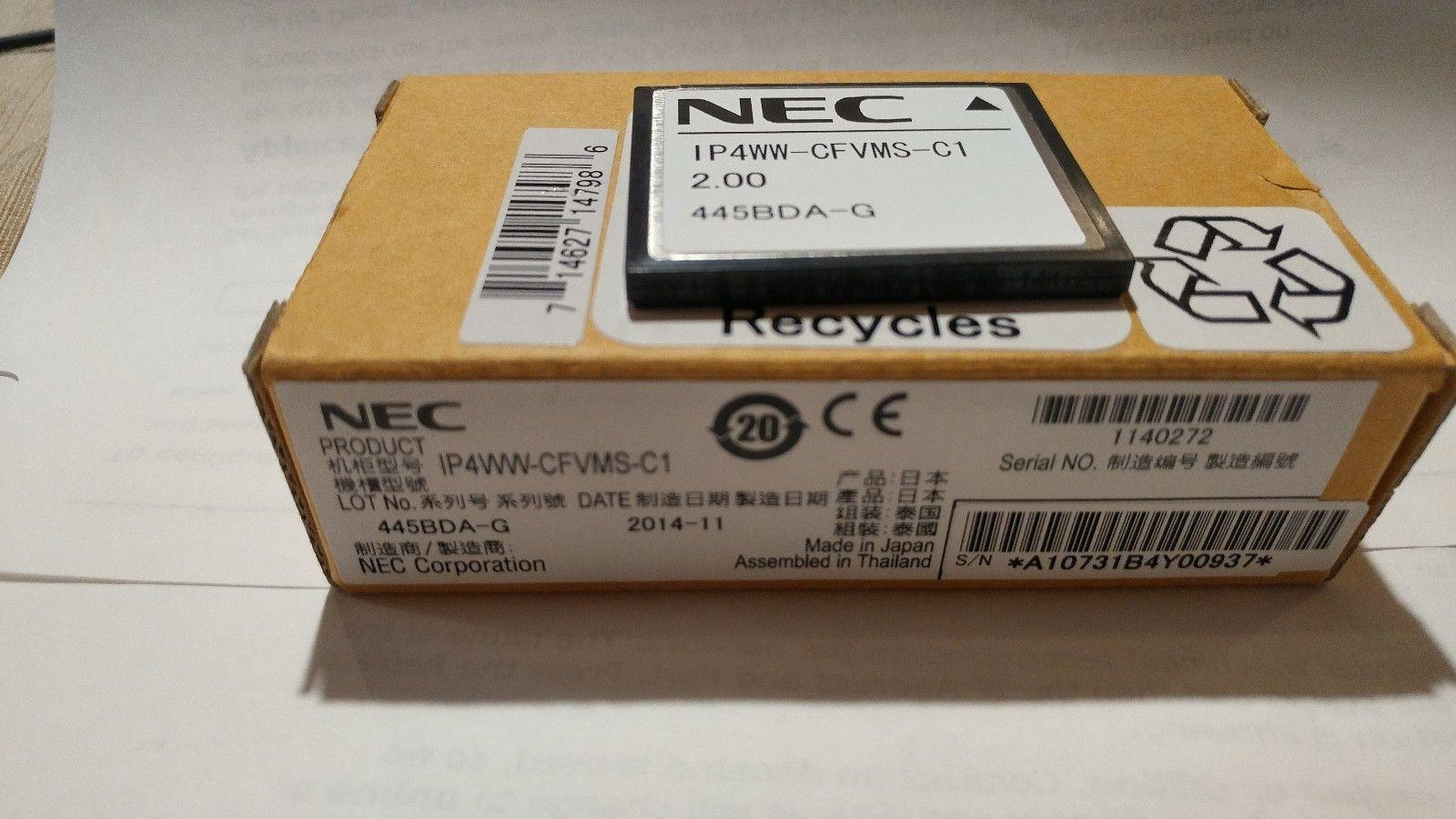 NEC CFVRS-C1 VRS CF card for Auto-Attendant / Voice Recording System