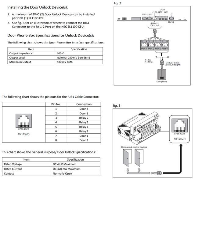 NEC Doorphone Unit(D503DOR-A) on