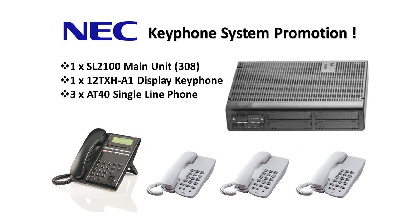 NEC SL2100 Keyphone System - Smart Communications System