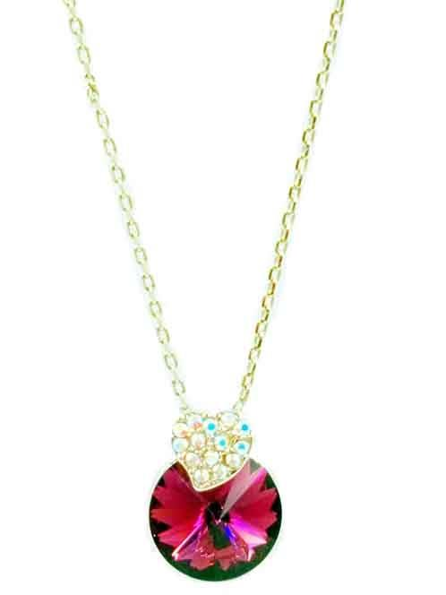 Necklace Flower Red