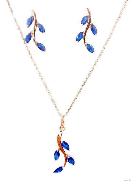 Necklace Leaf Style and Earing Set