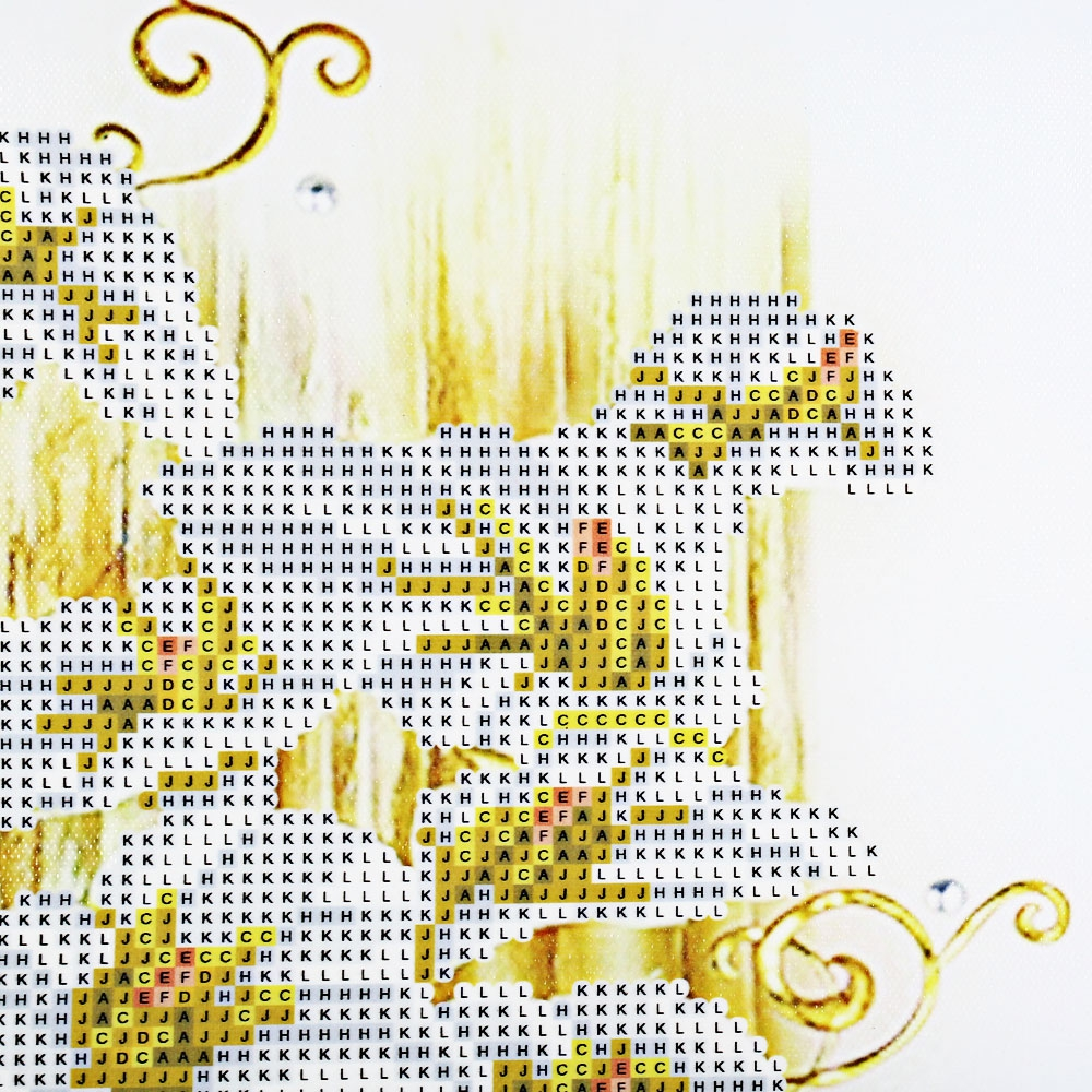 (NEEDLEWORK DIY DIAMOND PAINTING) 30 x 56cm 5D Golden Lily Drilled Nee..