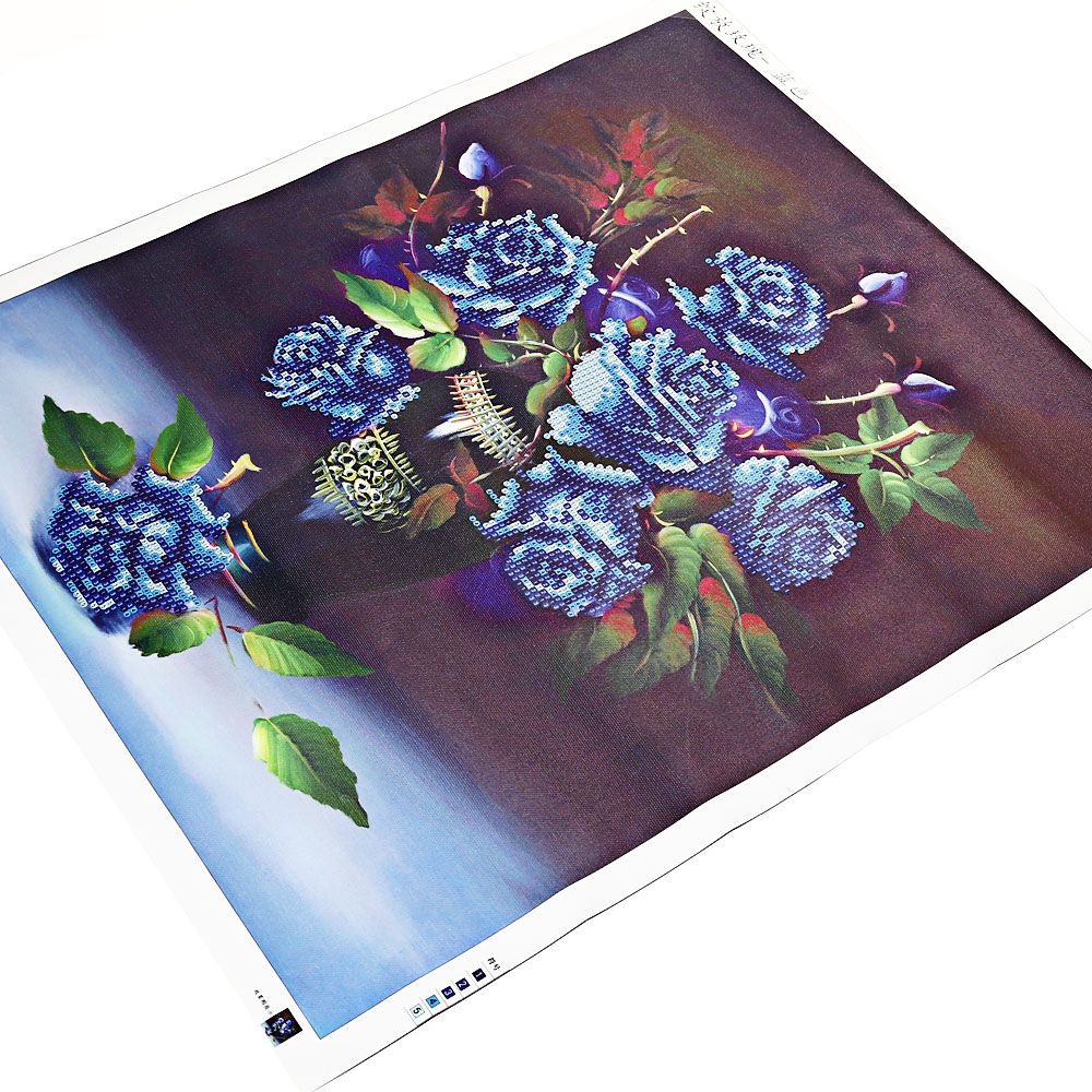 (NEEDLEWORK DIY DIAMOND PAINTING) 40 x 48cm 5D Rose Vase Full Drilled ..