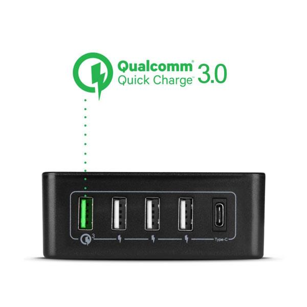 NEO Original Qualcomm 3.0 Mobile Quick Charger 5 Ports USB + Type C