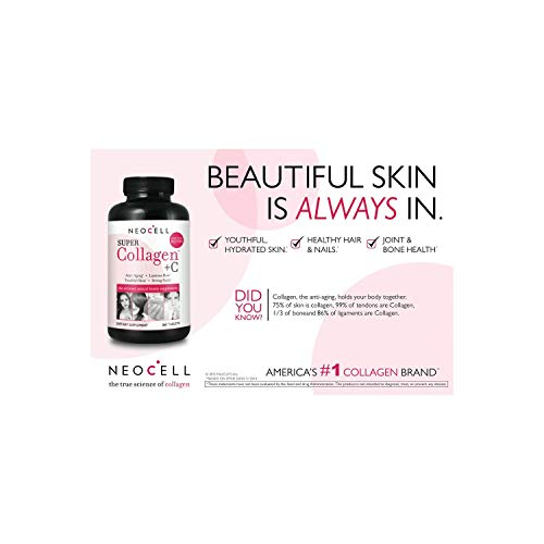 . NeoCell Super Collagen with Vitamin C, 360 Collagen Pills, #1 Collagen Table