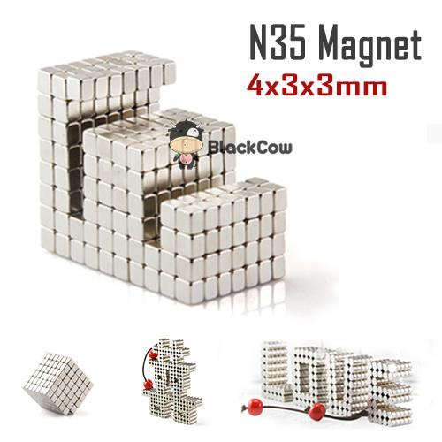 Neodymium strong Magnet N35 4x3x3mm [10 pcs]