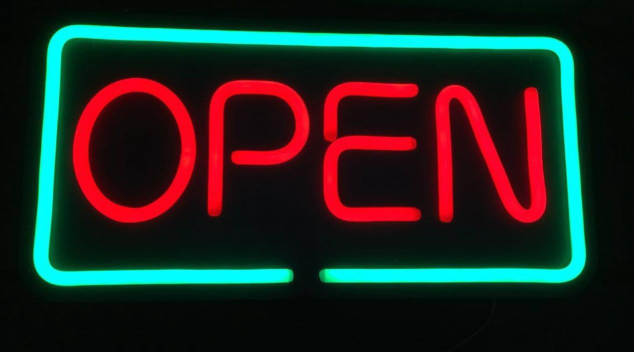 Neon Light Waterproof SignBoard-Open