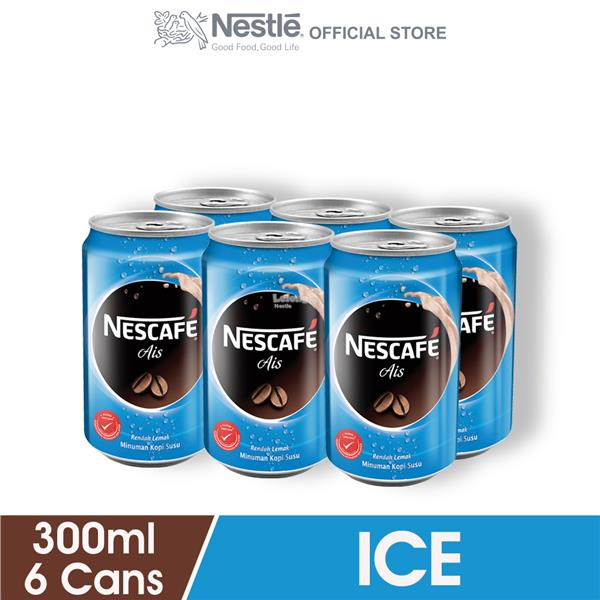 NESCAFE Ice RTD 6 Cans, 300ml Each