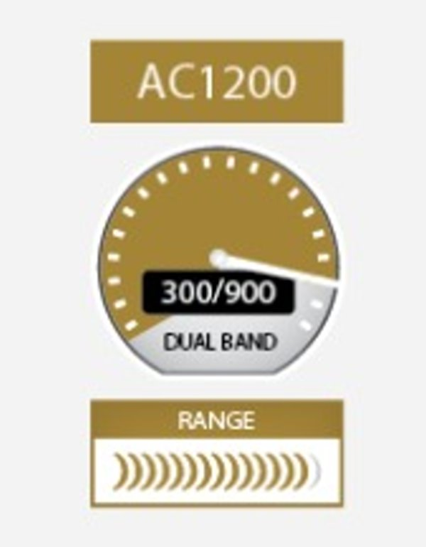 Netgear A6210-100PES AC1200 High Gain WiFi USB Adapter 802 11ac Dual B
