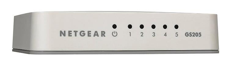 NETGEAR GS205 5 Port Gigabit Ethernet Desktop Switch GS205-100UKS