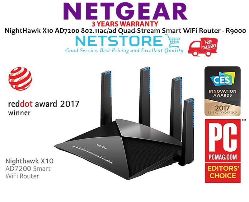 NETGEAR NightHawk X10 AD7200 Quad-Stream Smart WiFi Router ( R9000 )