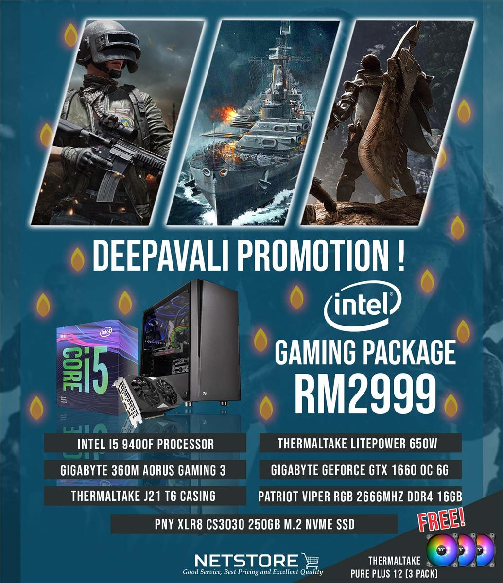 NETSTORE DEEPAVALI 2019 INTEL I5 RGB PC PACKAGE - LIMITED TIME OFFER